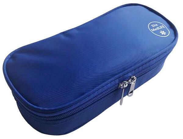 Термо-кейс с холодными пакетами. Синий