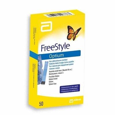 Тест-полоски FreeStyle Optium №50 .