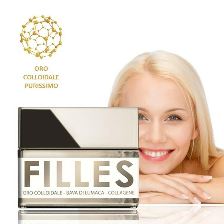 FILLES La Crema FERMATEMPO 50 ml - Oro Colloidale, Bava di Lumaca e Collagene