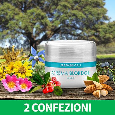2 Confezioni BLOKDOL Crema 50 ML - Crema Lenitiva Anti Dolorifica