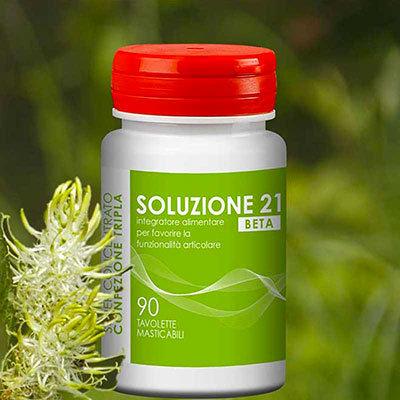 SOLUZIONE 21 BETA - 90 Compresse - A base di Acido Ialuronico e Artiglio del Diavolo SOL0002