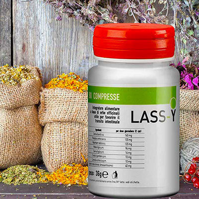 LASS-Y Regolatore Intestinale - 90 Compresse - Mix Di Erbe Medicali Che Stimolano La Motilità Intestinale LAS0001