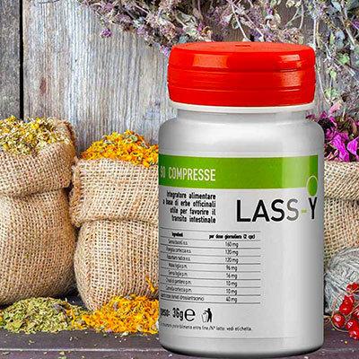 LASS-Y Regolatore Intestinale - 90 Compresse - Mix Di Erbe Medicali Che Stimolano La Motilità Intestinale