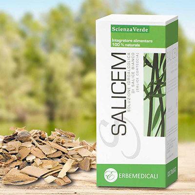 SALICEM 50 ML - La Vera Aspirina Naturale (Macerato Idro-alcolico a base di Corteccia di Salice Bianco) - Azione Antinfiammatoria, Defaticante. SLC0001