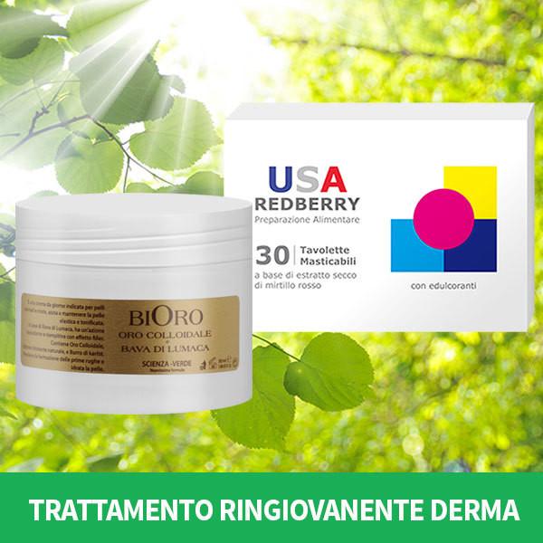 TRATTAMENTO RINGIOVANENTE DERMA: 1 CREMA BIORO + 1 USA REDBERRY