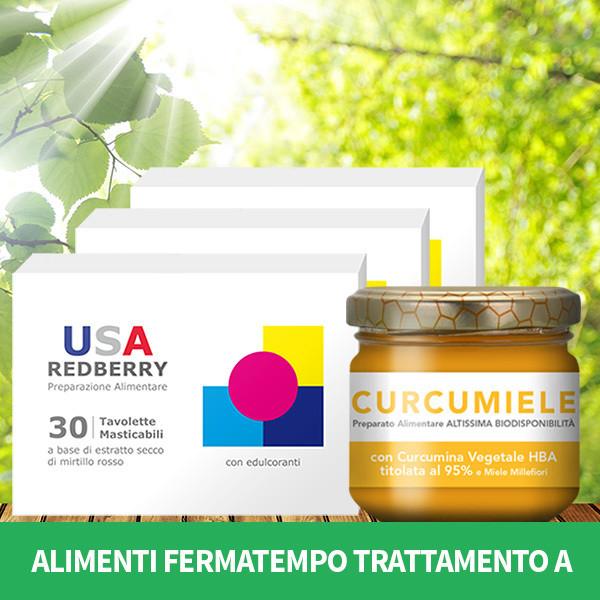 ALIMENTI FERMATEMPO TRATTAMENTO A: 3 REDBERRY + 1 CURCUMIELE 110 g