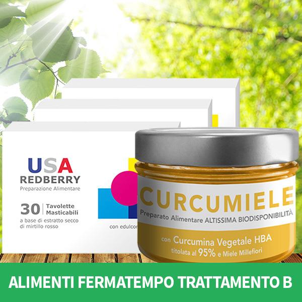 ALIMENTI FERMATEMPO TRATTAMENTO B: 3 REDBERRY + 1 CURCUMIELE 230 g AFT3