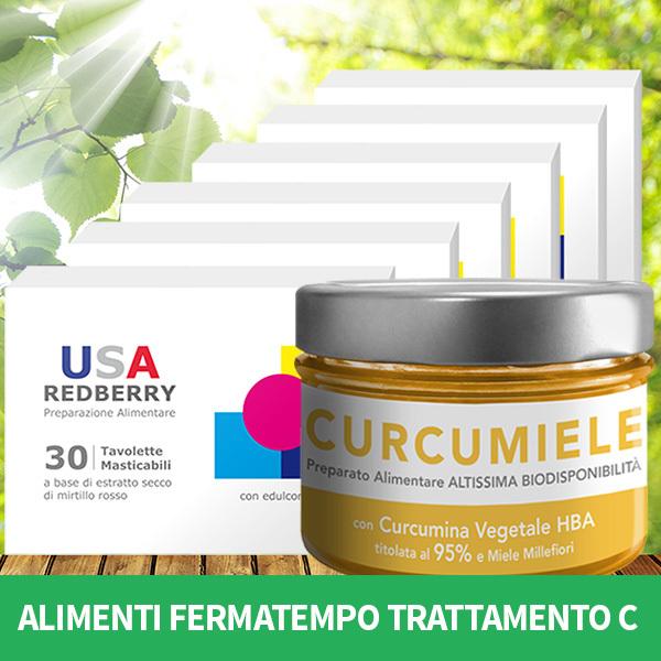ALIMENTI FERMATEMPO TRATTAMENTO C: 6 REDBERRY + 1 CURCUMIELE 230 g AFTC