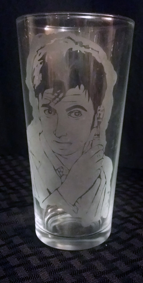 Doctor Who 10th Doctor / David Tennant Etched Glass CD-004
