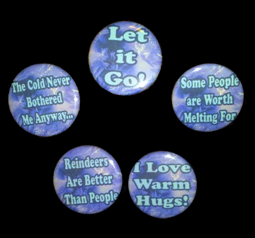 Frozen-Themed Button Set BD-001