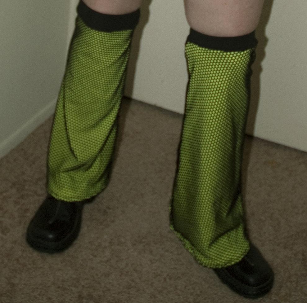 Yellow Fishnet Leg Warmers L-001