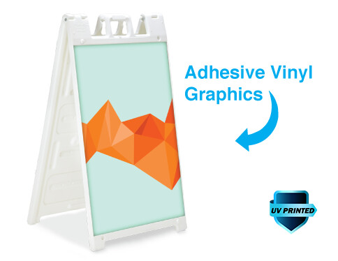 Standard Size - A-frame Sign with 2 Adhesive Vinyl Decals