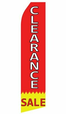 Feather Flag - RED - CLEARANCE SALE Sign with Ground Stake