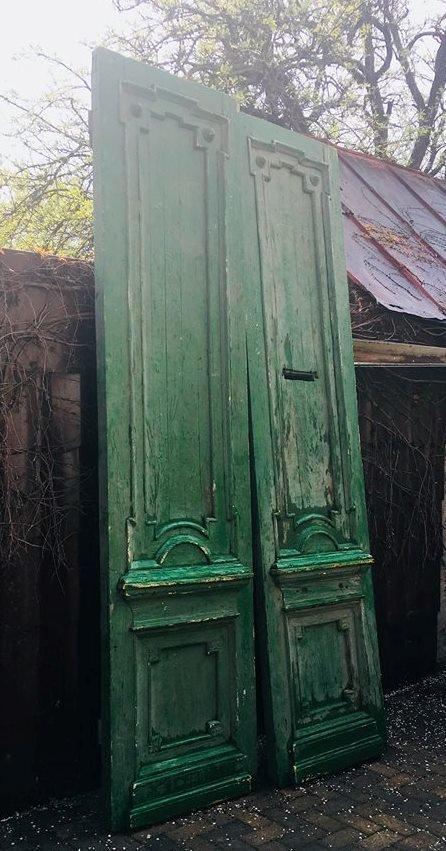 Пара уникальных двери 1895 года. Размер 2800 х 1400 мм