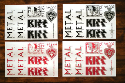 metal bikes kizz re-issue sticker kit