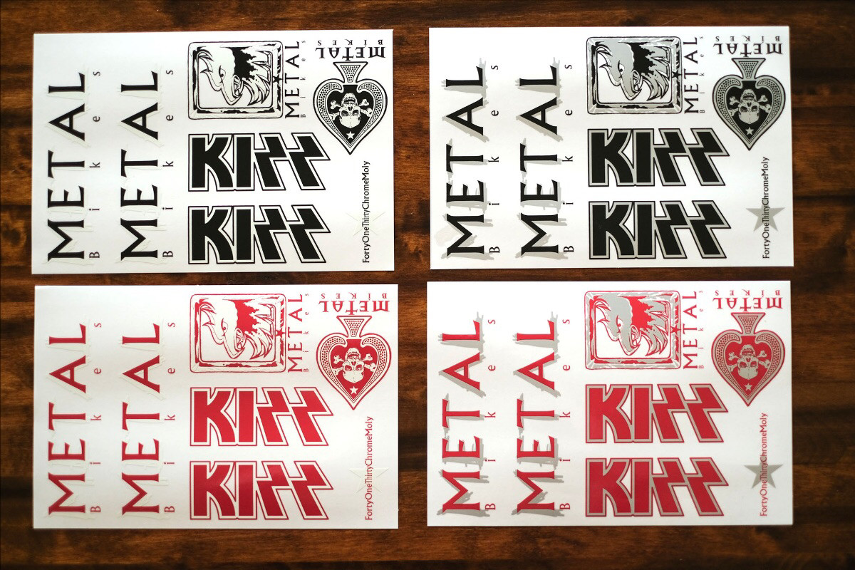 metal bikes kizz re-issue sticker kit