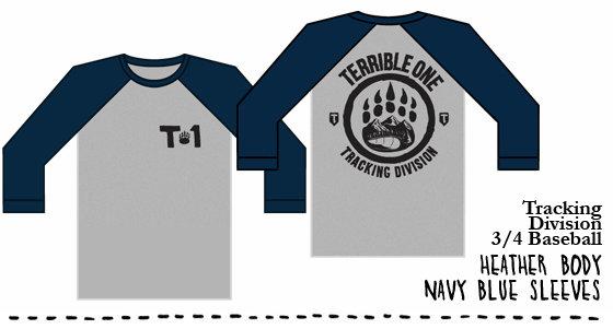 terrible one 3/4 length baseball t/shirt