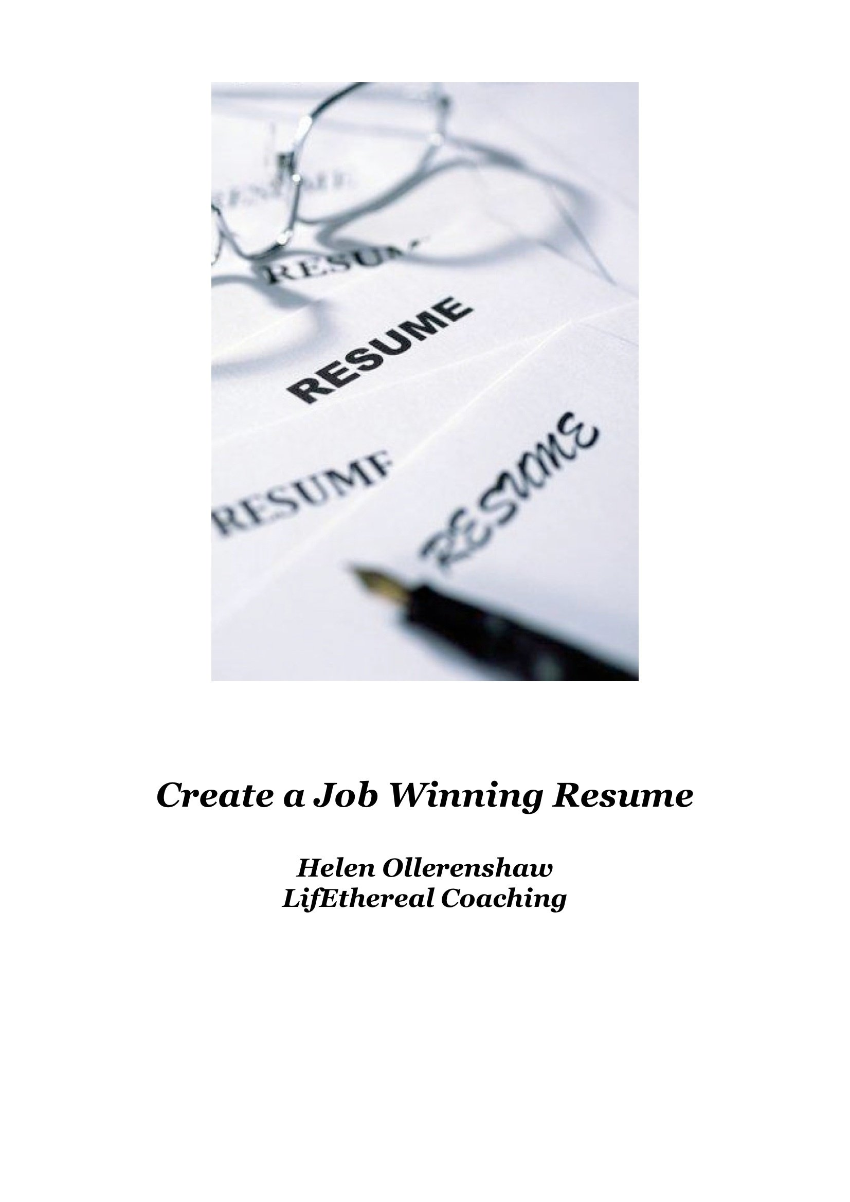 Job Winning Resume 00002