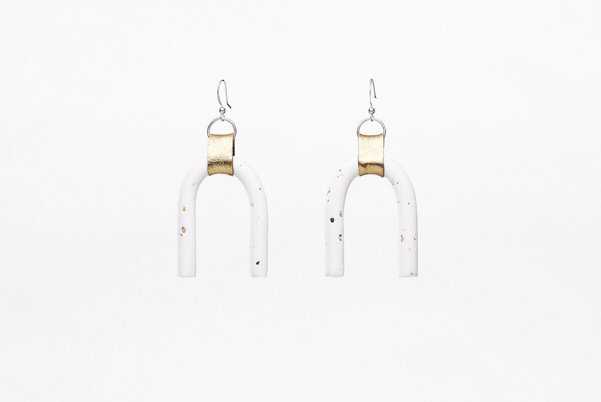 Pepper Gold Arch Earrings