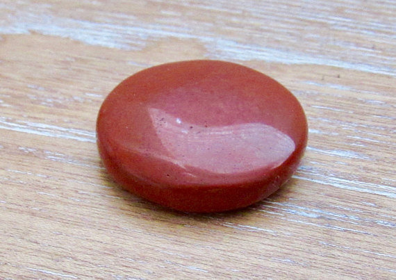 Fairness Justice Polished Disc Stone Red Jasper Stone