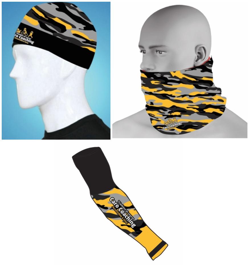 Manchettes, tuque et bandana réversible