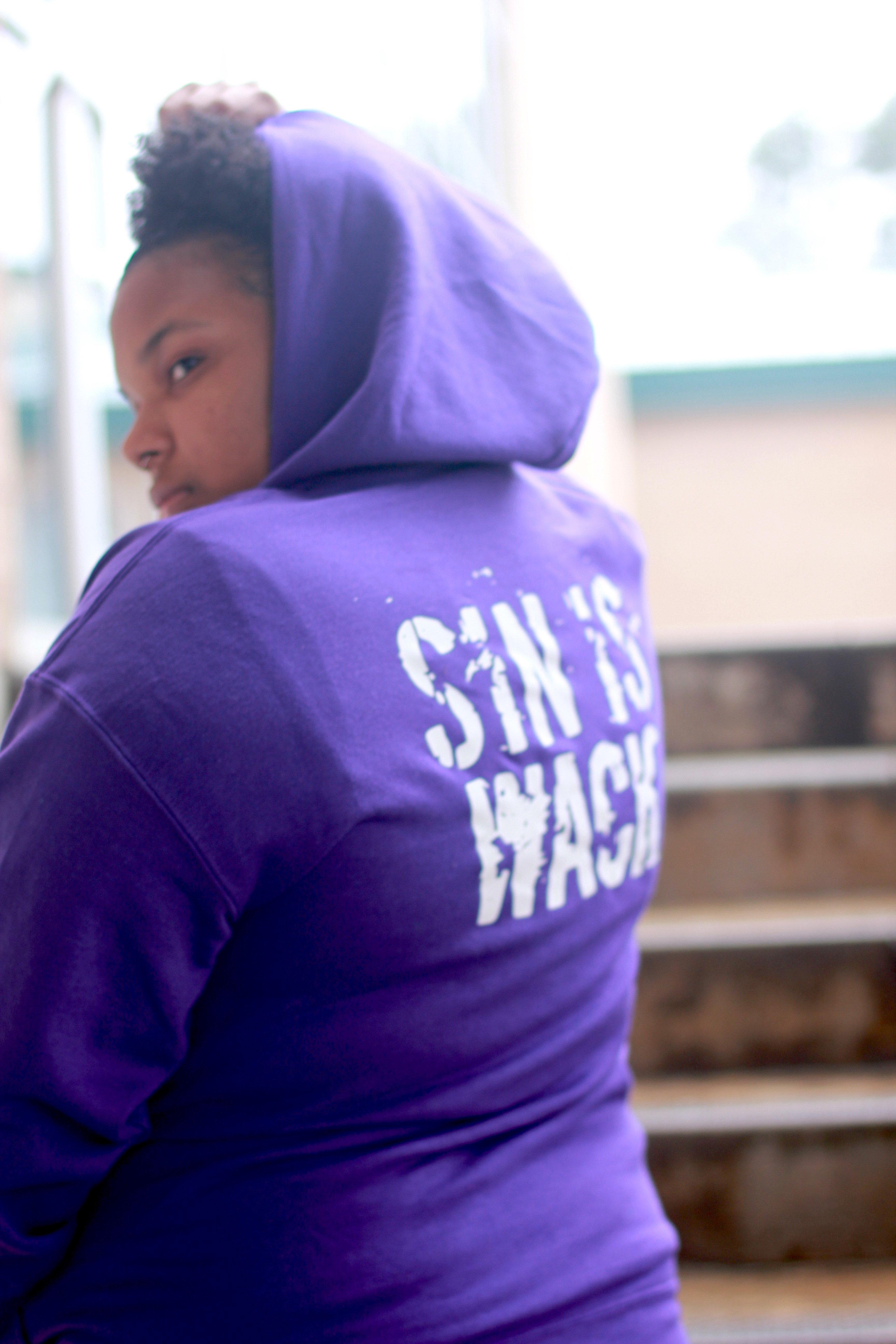 Sin is Wack Hoodie (Purple) 00011