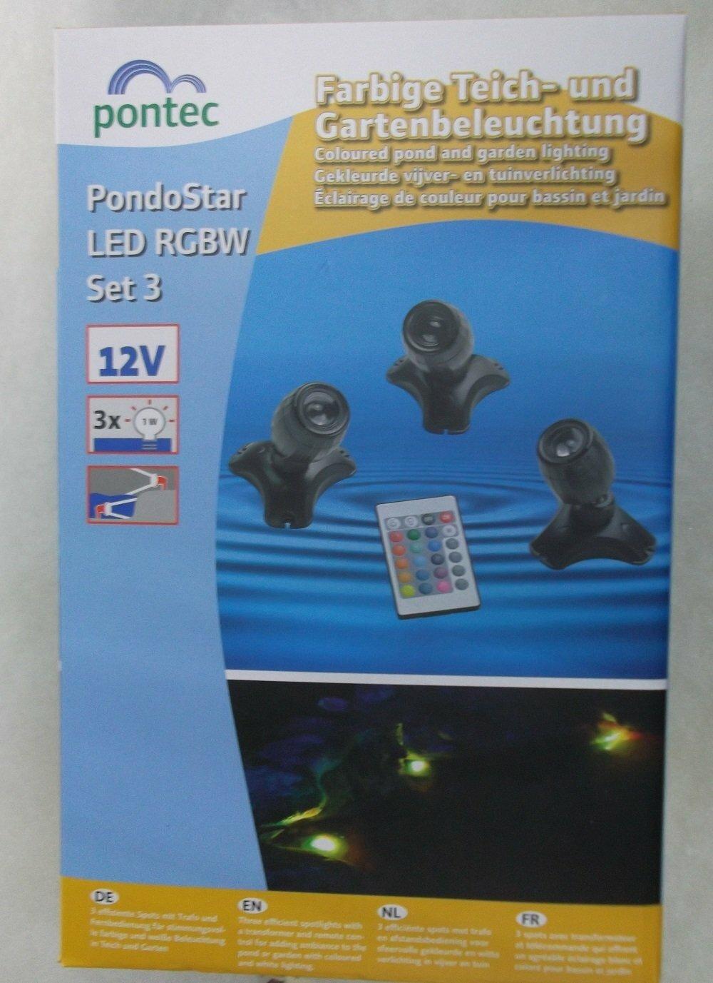 Pontec PondoStar LED RGBW Set 3 pond lights new for 2020