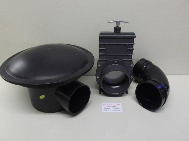 Bottom Drain Kit Valterra slide valve 110 mm