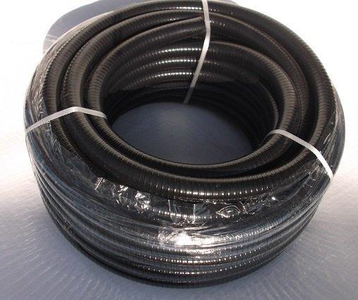 Heavy Duty Black Pond Hose 25 metre coils