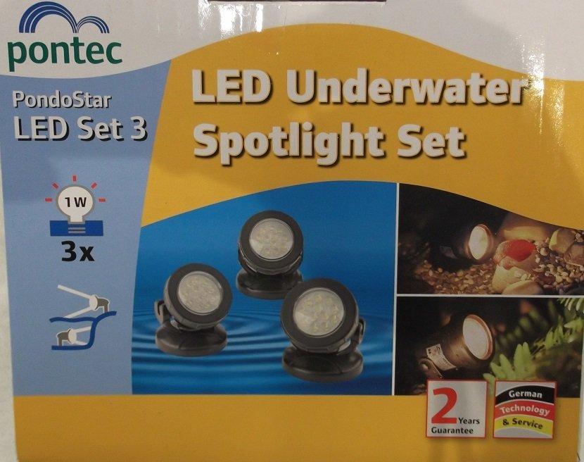 Pontec PondoStar LED Set 3 pond lights
