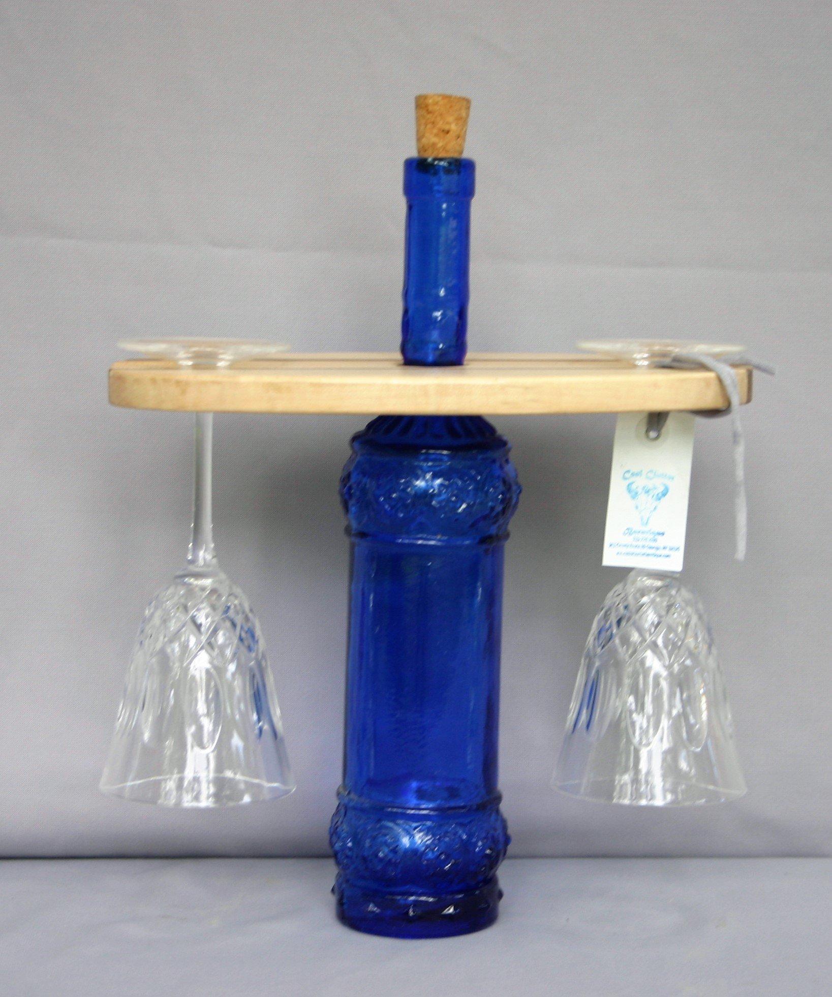 Wine Glass/Bottle Holder 00037