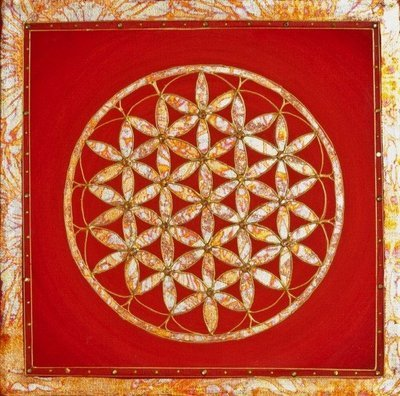 Tangerine Flower of Life