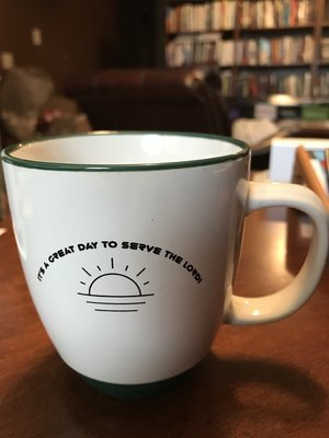 It's a Great Day to Serve the Lord! 12 oz wide mouth mug