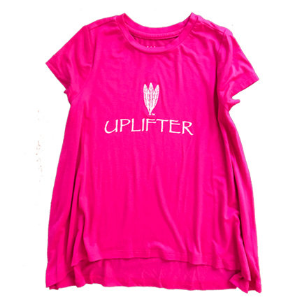 Youth Long Shirt: UPLIFTER: Pink: Sizes M, L, XL uplongpink-s