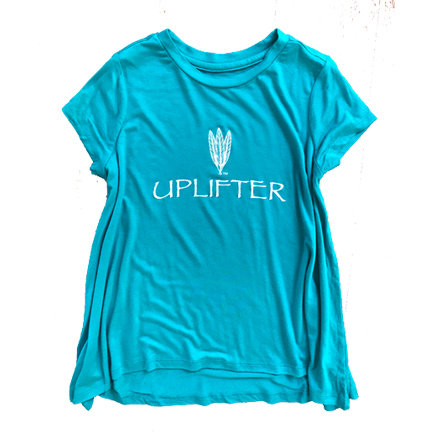 Youth Long Shirt: UPLIFTER: Teal: Sizes S, M, L, XL uplongteal-s