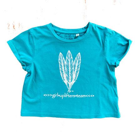 Youth Crop Shirt: GUT LOGO: Teal: Sizes XS, S, M, L, XL gutcropteal-xs