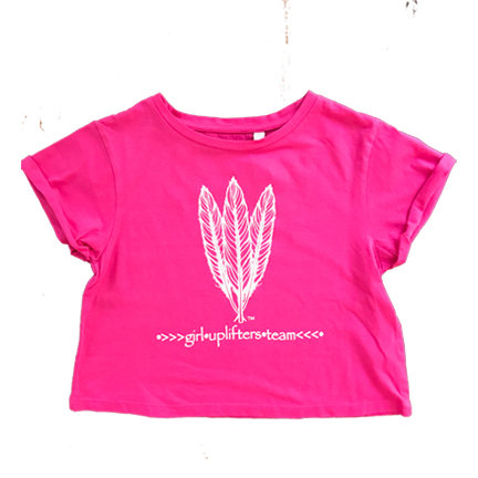 Youth Crop Shirt: GUT LOGO: Pink: Sizes XS, S, M, L, XL gutcroppink-xs