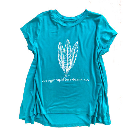 Youth Long Shirt: GUT LOGO: Teal: Sizes S, M, L, XL gutlongteal-s