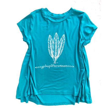 Youth Long Shirt: GUT LOGO: Teal: Sizes S, M, L, XL gutlongteal-s