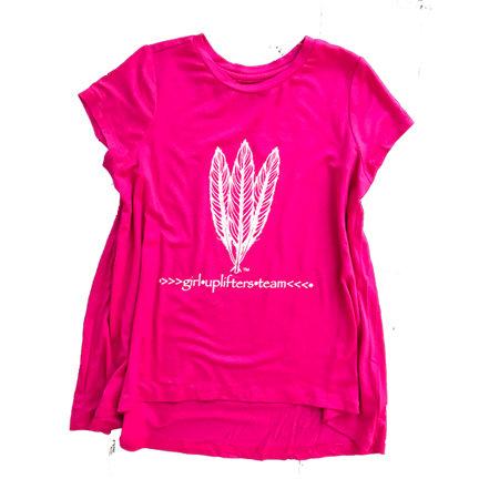 Youth Long Shirt: GUT LOGO: Pink: Sizes M, L, XL gutlongpink-s
