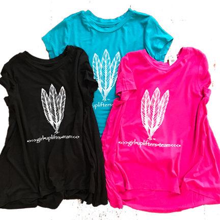Youth Long Shirt: GUT LOGO: Pink: Sizes M, L, XL