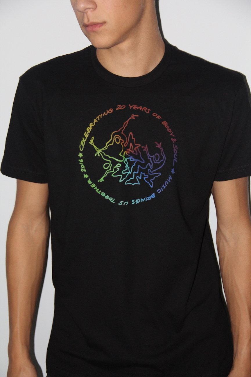 Men 20th Anniv Black w/ Rainbow Ink L VXA33IE7LASGTMA7RSONI2AC