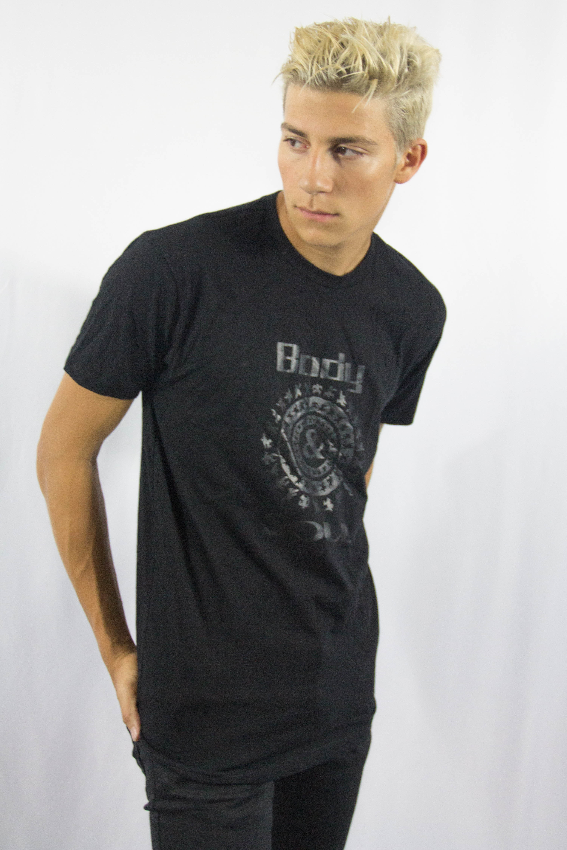 Men B&S Logo Front Black w/ Black Ink S NSYQK2U5EQ2XRAWHA7F7TA3P