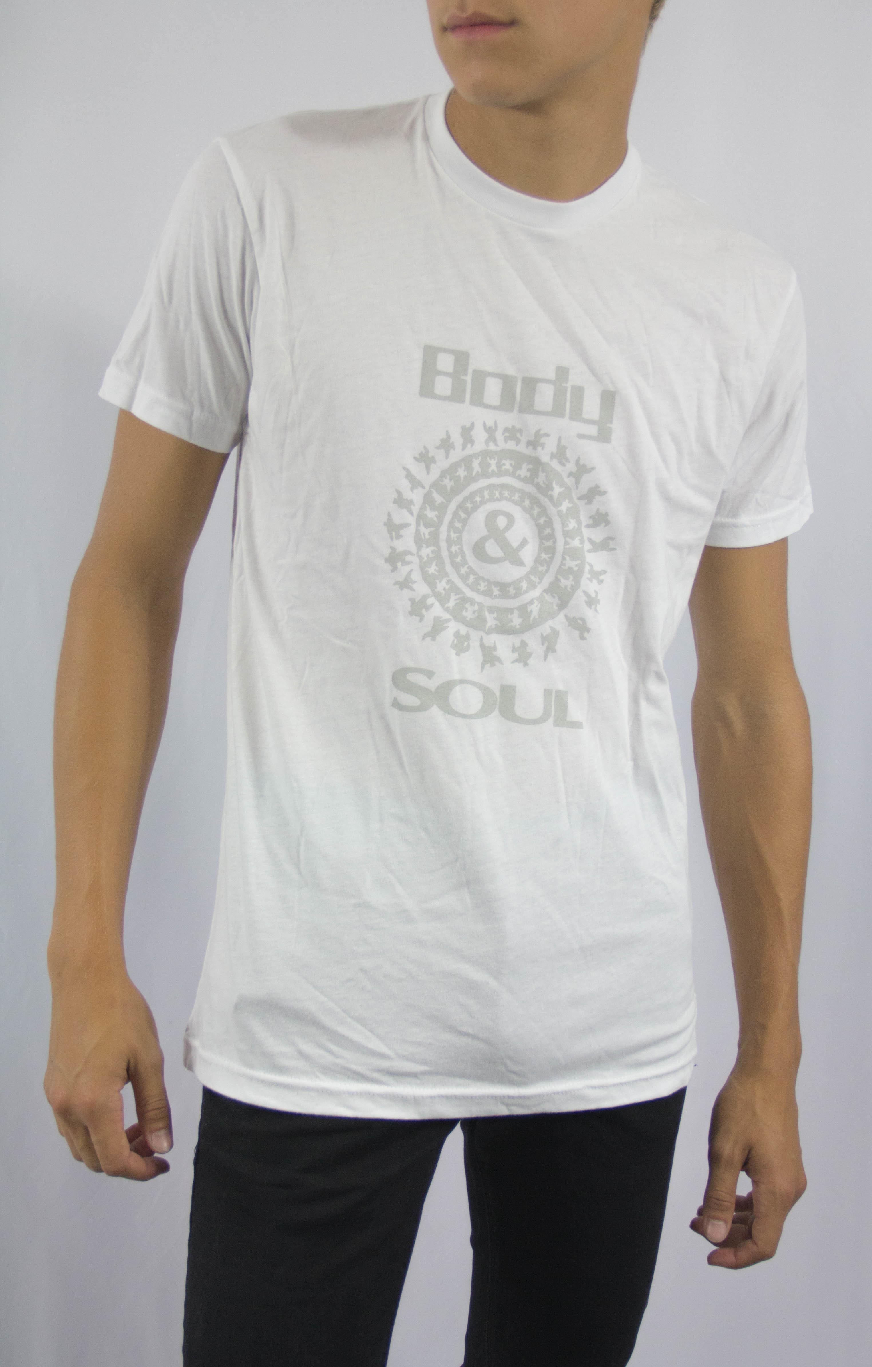 Men B&S logo Front White w/ Grey Ink M 00004
