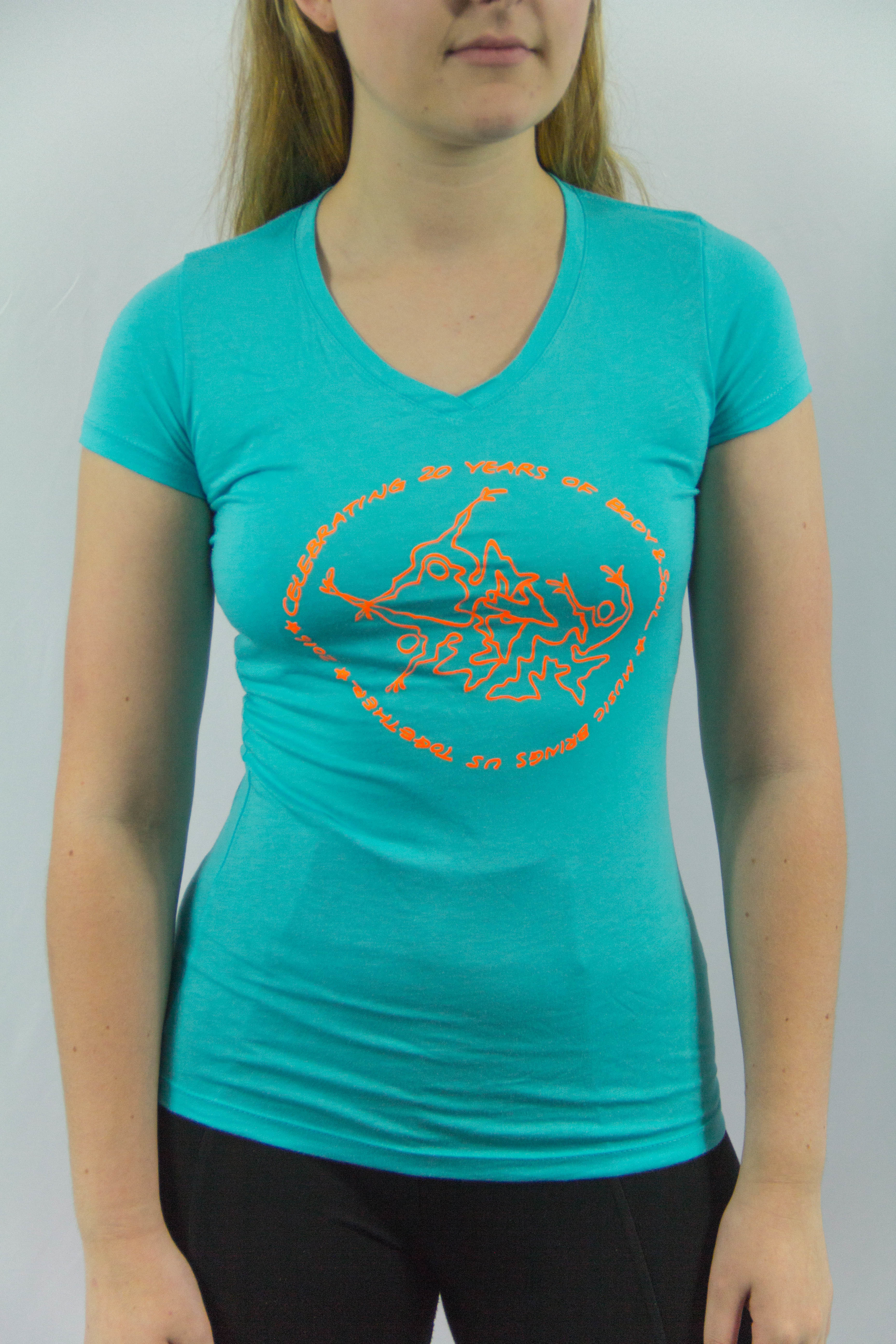 Women V-neck 20th Anniv Tahiti Blue XL YROB2CV6PCTMNXFJRMR6M7B6