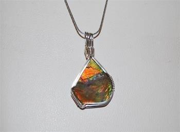 0d14e3339 Silver Ammolite Necklace