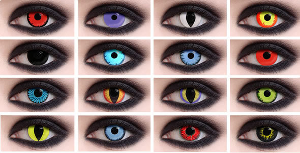 HALLOWEEN CRAZY COLOR CONTACTS
