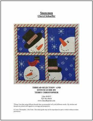Cheryl Schaefer Designs, Four Snowmen CSDCX18