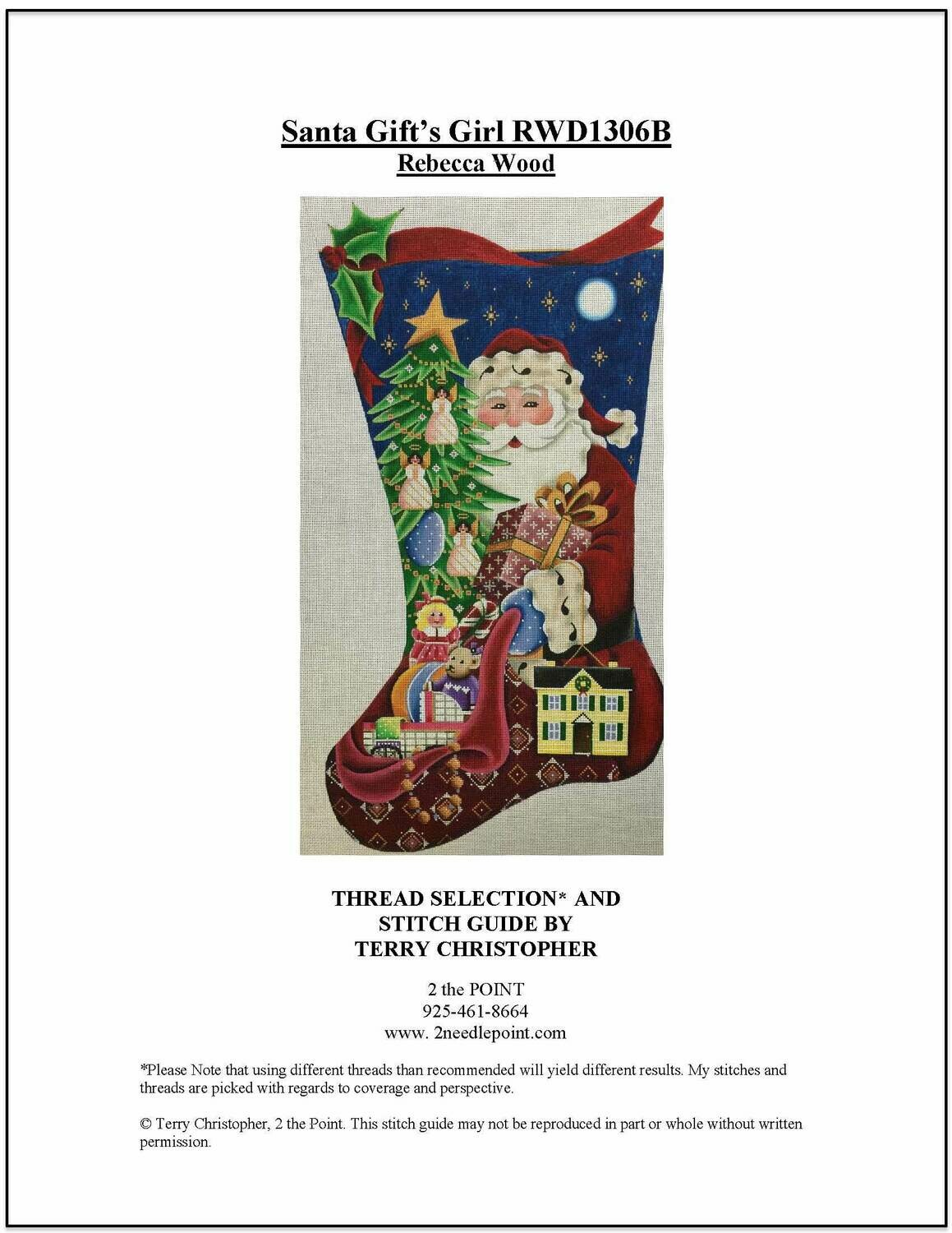Rebecca Wood, Santa with Gifts Stocking RWD1306B