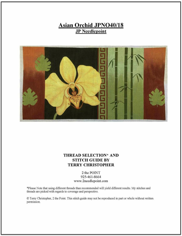 JP Needlepoint, Asian Orchid JPN040